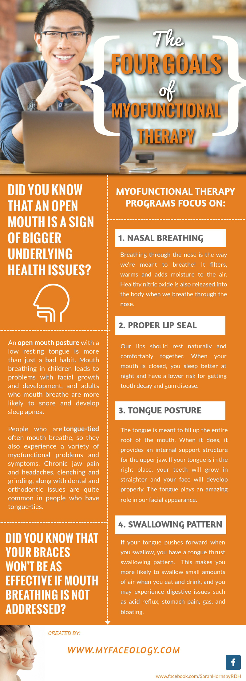 Myofunctional Therapy Infographic - The Four Goals of myofunctional therapy